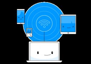 Verschiedene Geräte mit dem Internet verbinden